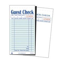 Guest Check Book, Carbon Duplicate, 3 1/2 x 6 7/10