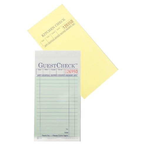 GuestChecks Restaurant Guest Check Pads