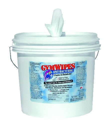 Gymwipes Anti-Bacterial Bucket, 700 Wipes