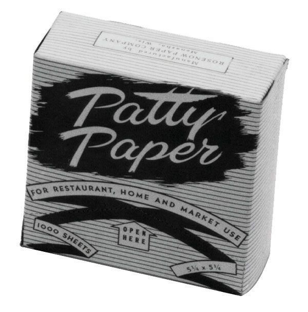 HAMBURGER PATTY PAPER, 5-1/4