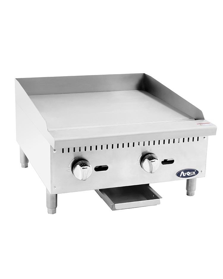 """Atosa ATMG-24 Heavy Duty Stainless Steel 24'"""" Manual Griddle"""