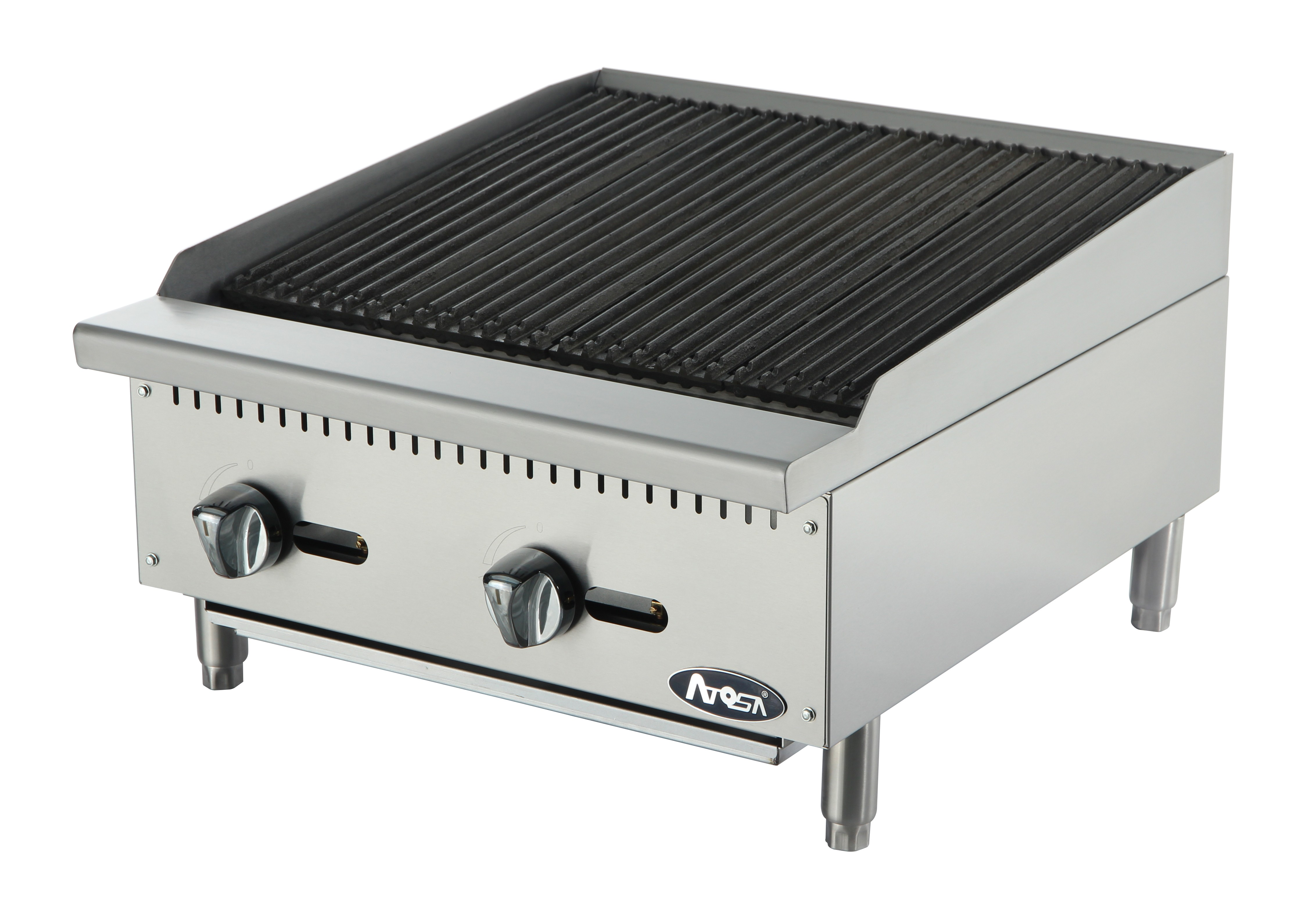 Atosa ATCB-24 HD Heavy Duty Stainless Steel 24'' Char-Rock Broiler