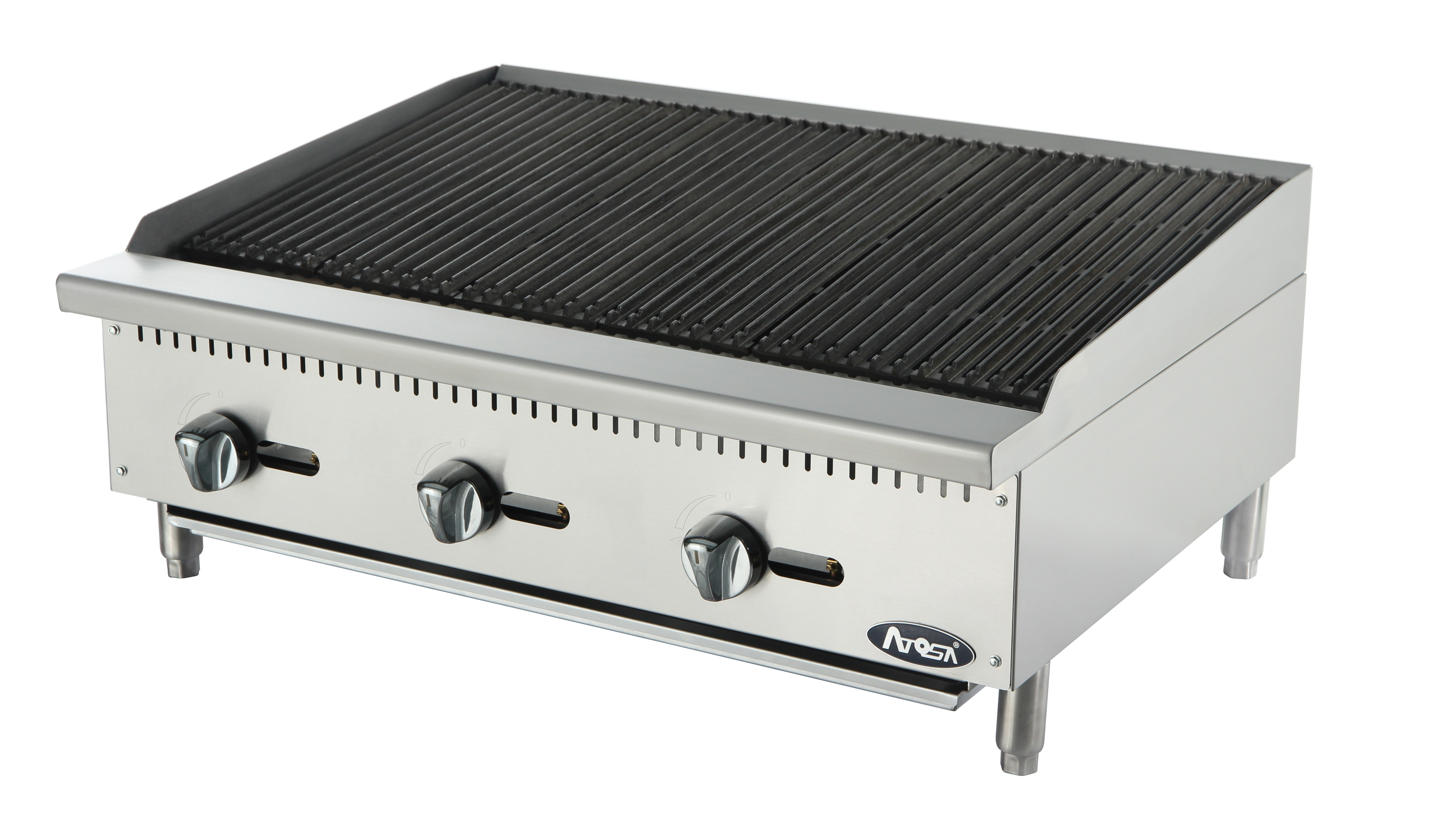 """Atosa ATCB-36 Heavy Duty Stainless Steel 36"""" Char-Rock Broiler"""