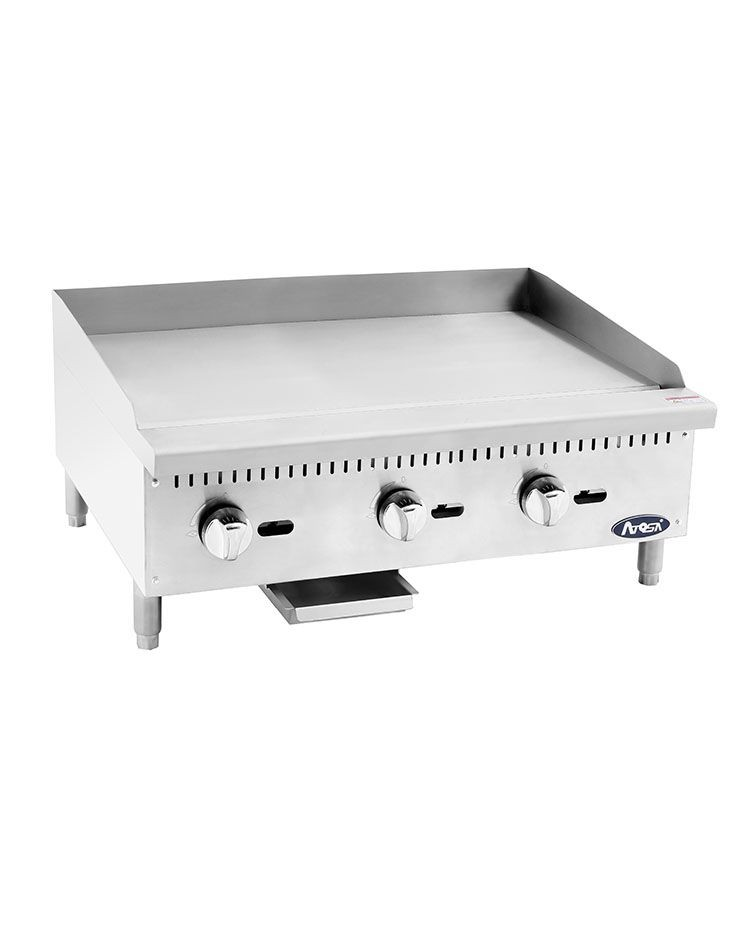 Atosa ATMG-36 HD Heavy Duty Stainless Steel 36'' Manual Griddle