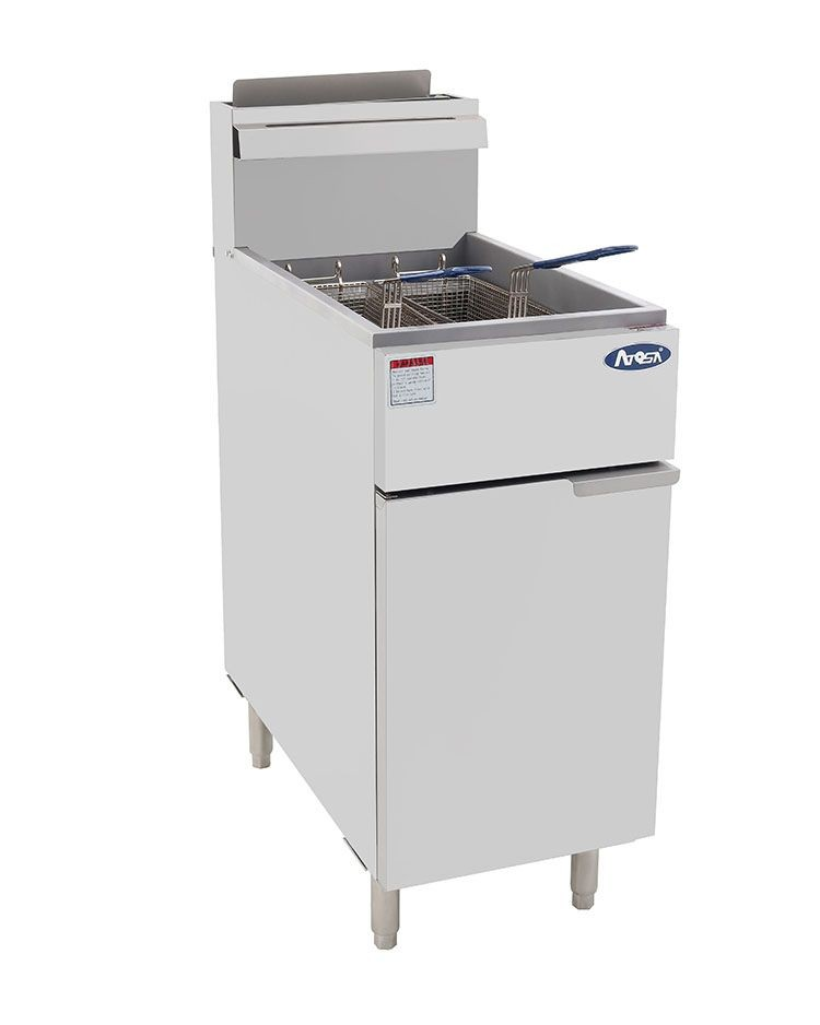Atosa ATFS-40 HD Heavy Duty 40 Lb. Stainless Steel Deep Fryer