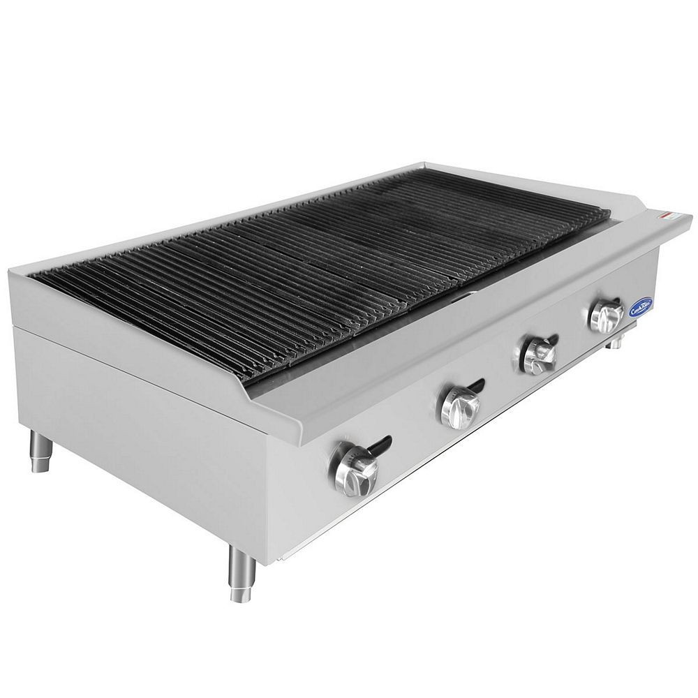 Atosa ATCB-48 HD Heavy Duty Stainless Steel 48'' Char-Rock Broiler