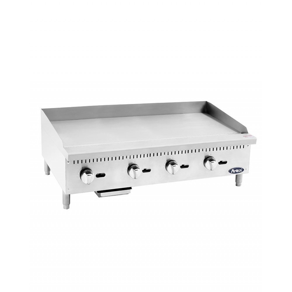 Atosa ATMG-48 HD Heavy Duty Stainless Steel 48'' Manual Griddle