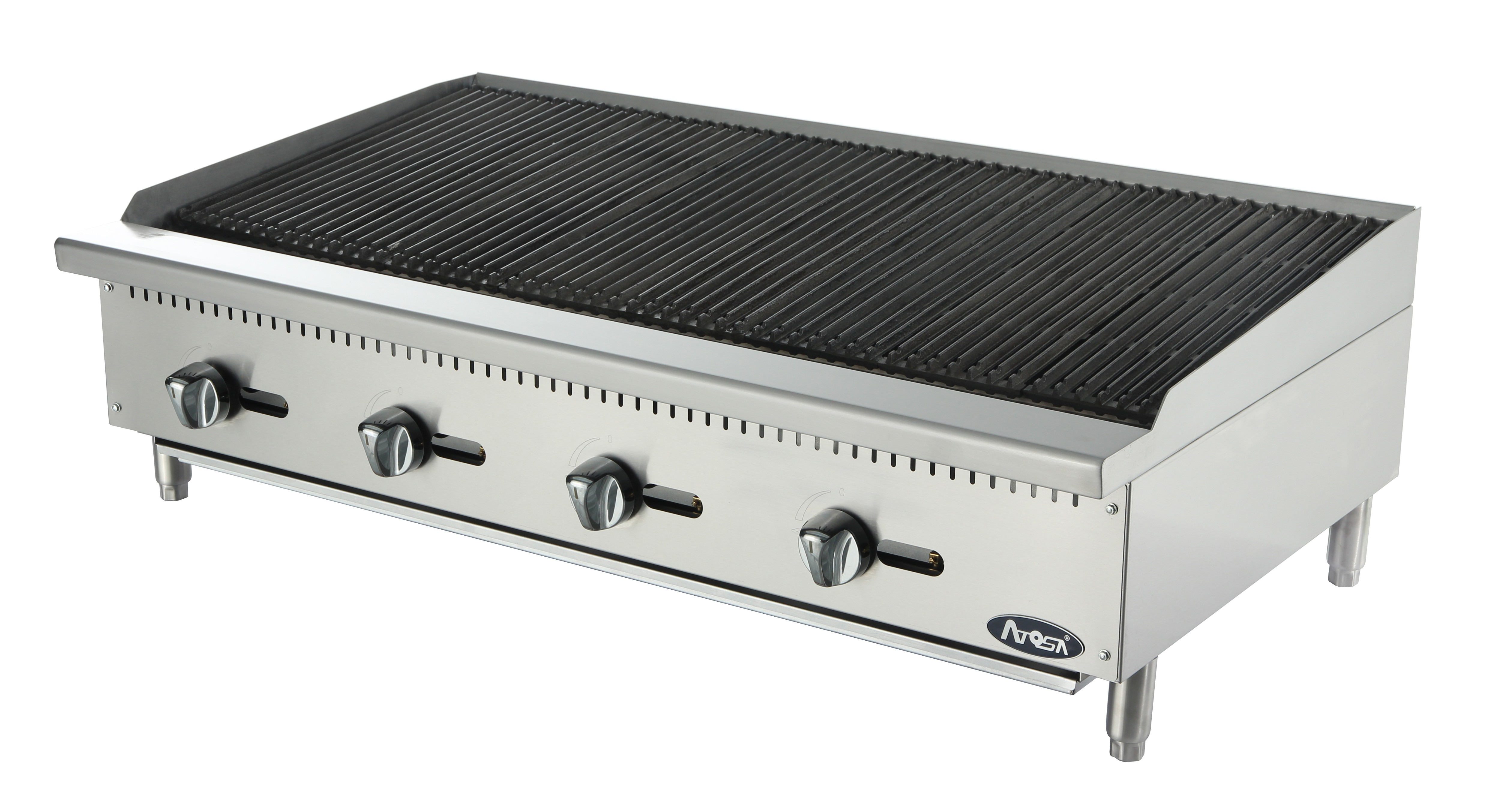"Atosa ATRC-48 Heavy Duty Stainless Steel 48"" Radiant Charbroiler"