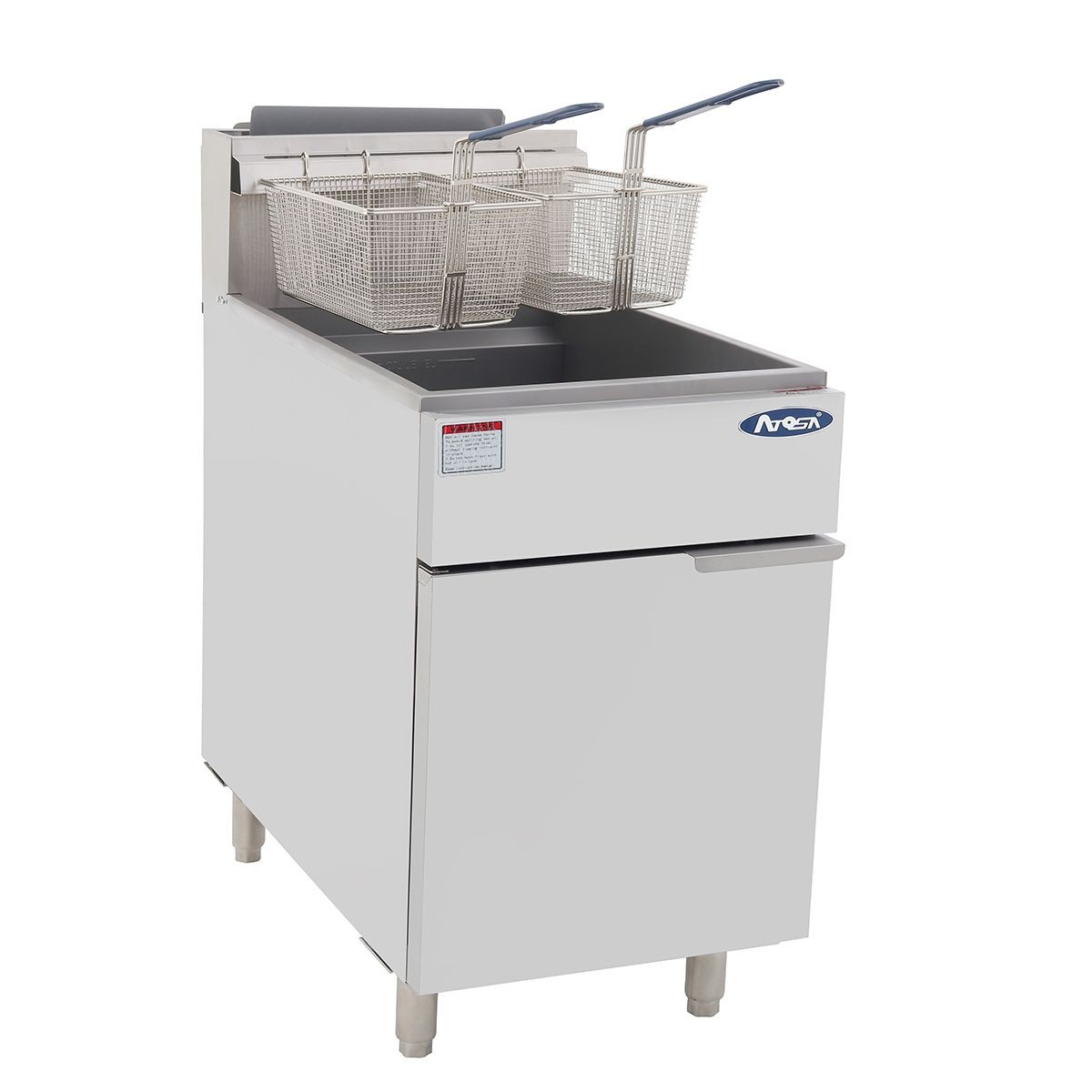 Atosa ATFS-75 HD Heavy Duty 75 Lb. Stainless Steel Deep Fryer