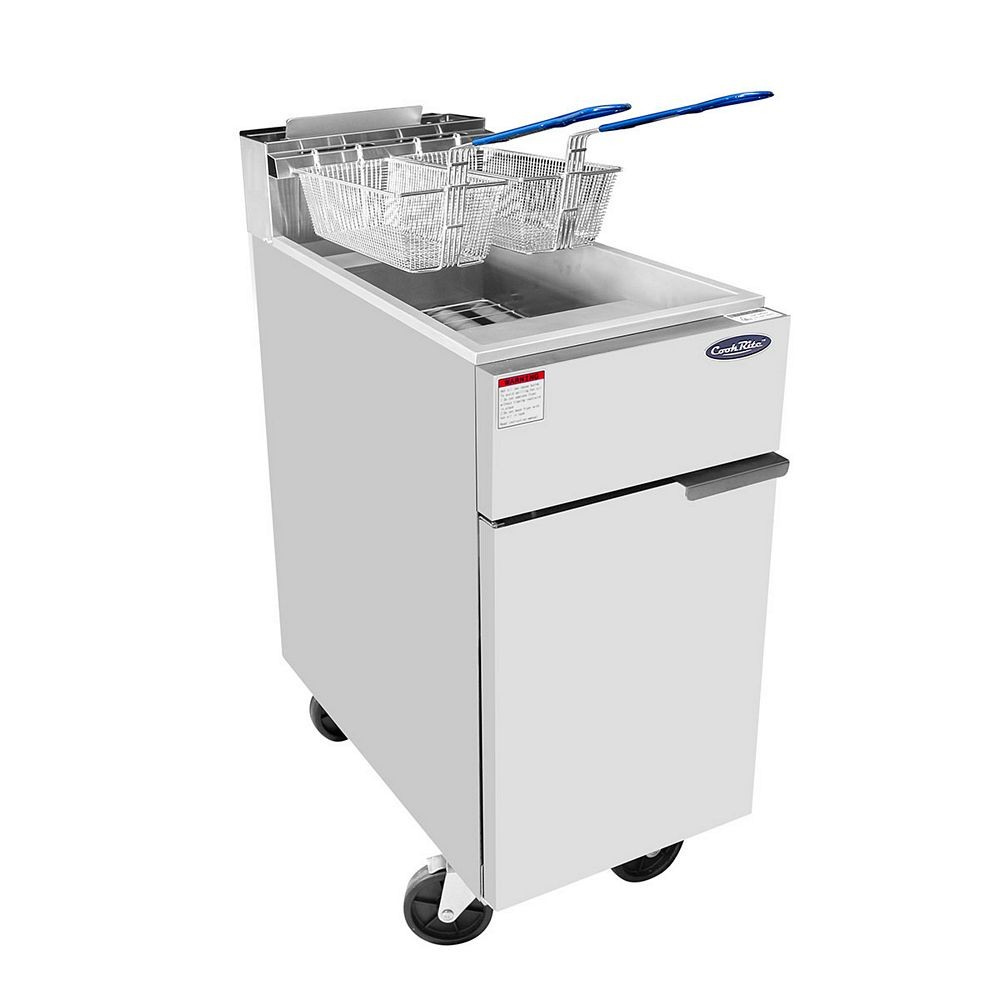 Atosa ATFS-50 HD Heavy Duty 50 Lb. Stainless Steel Deep Fryer