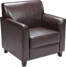 Flash Furniture BT-827-1-BN-GG HERCULES Diplomat Series Brown Leather Chair