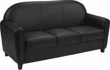 HERCULES Envoy Series Black Leather Sofa