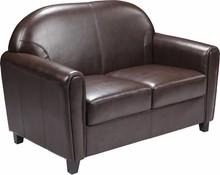 HERCULES Envoy Series Brown Leather Love Seat