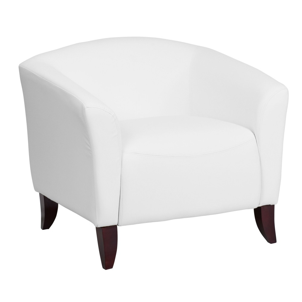 HERCULES Imperial Series White Leather Chair