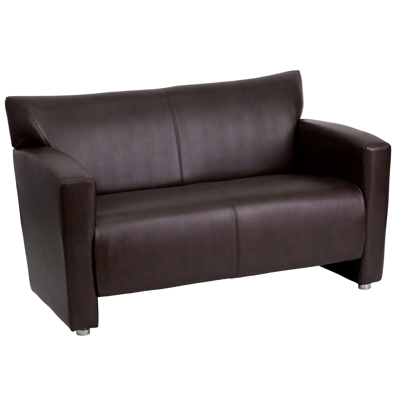 Flash Furniture 222-2-BN-GG HERCULES Majesty Series Brown Leather Love Seat