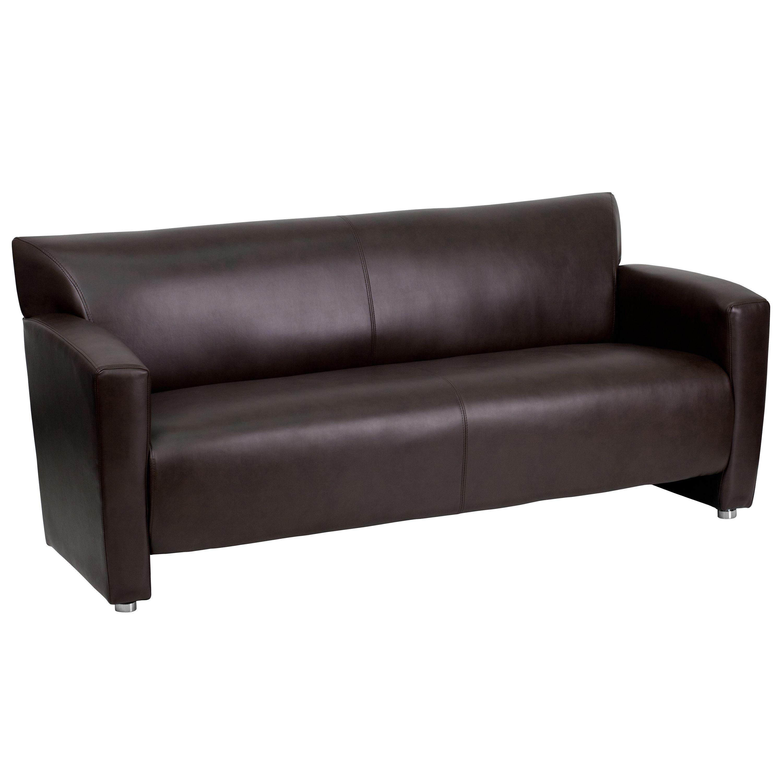 Flash Furniture 222-3-BN-GG HERCULES Majesty Series Brown Leather Sofa