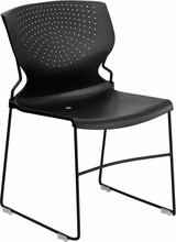 HERCULES Series 1500 lb. Capacity Black Full Back Stack Chair with Black Frame