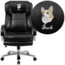 Flash Furniture GO-2078-LEA-GG HERCULES Series 24/7 Intensive Use, Big & Tall 500 Lb. Capacity Leather Executive Swivel Chair with Loop Arms