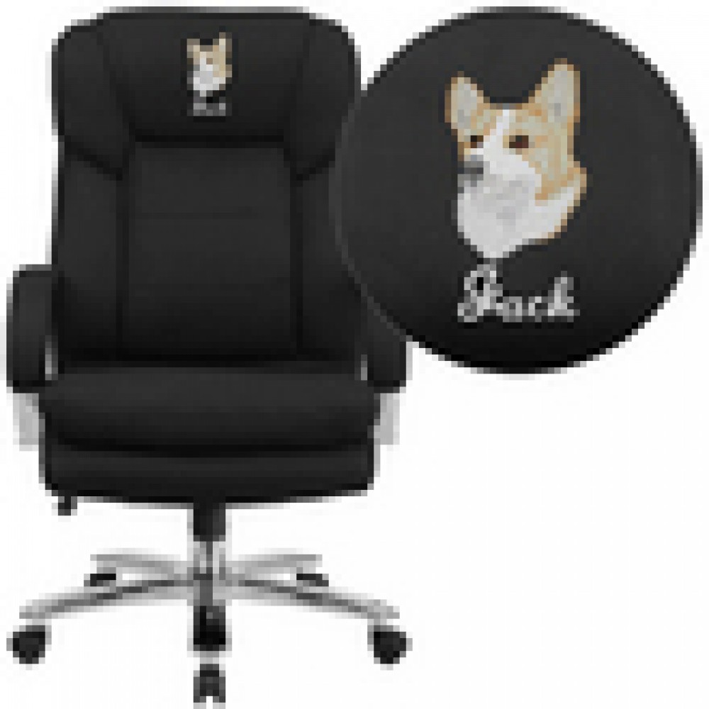 Flash Furniture GO-2078-GG HERCULES Series 24/7 Intensive Use Big & Tall 500 Lb. Capacity Fabric Executive Swivel Chair with Loop Arms