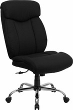 Flash Furniture GO-1235-BK-FAB-GG HERCULES Series 400 Lb. Capacity Big and Tall Black Fabric Office Chair with Extra Wide Seat