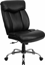 Flash Furniture GO-1235-BK-LEA-GG HERCULES Series 350 Lb. Capacity Big and Tall Black Leather Office Chair with Extra Wide Seat