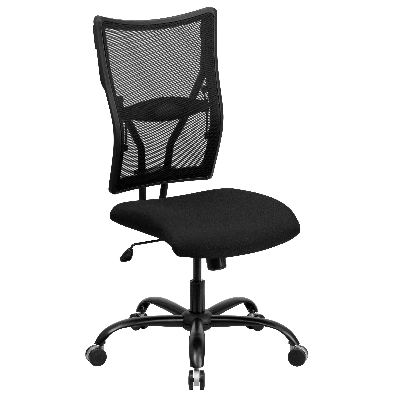 Flash Furniture WL-5029SYG-GG HERCULES Series Big & Tall Black Mesh Office Chair, 400 Lb. Capacity