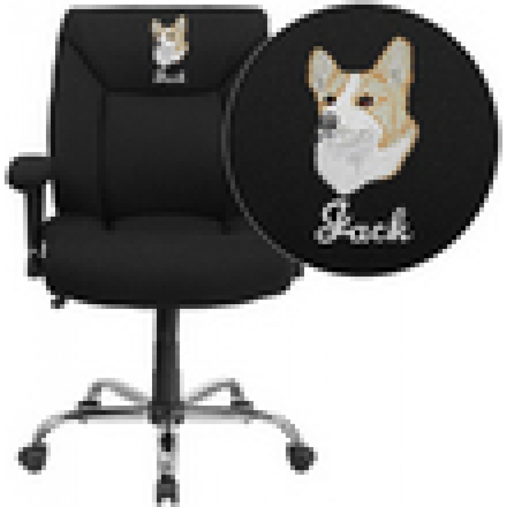 HERCULES Series 400 lb. Capacity Big & Tall Fabric Task Chair with Height Adjustable Arms