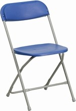 HERCULES Series 440 lb. Capacity Premium Blue Plastic Folding Chair