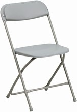 HERCULES Series 440 lb. Capacity Premium Gray Plastic Folding Chair