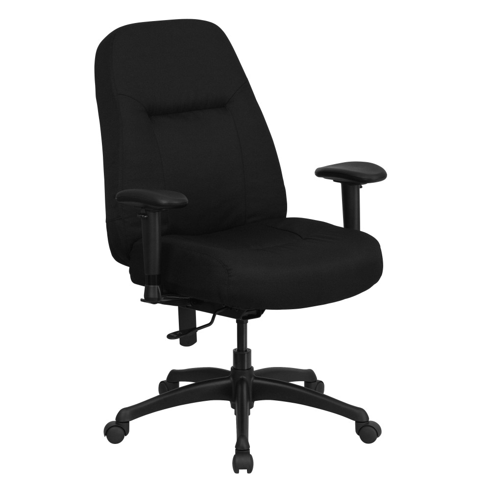 HERCULES Series 500 lb. Capacity Big and Tall Black Fabric Office Chair with Arms and Extra WIDE Seat