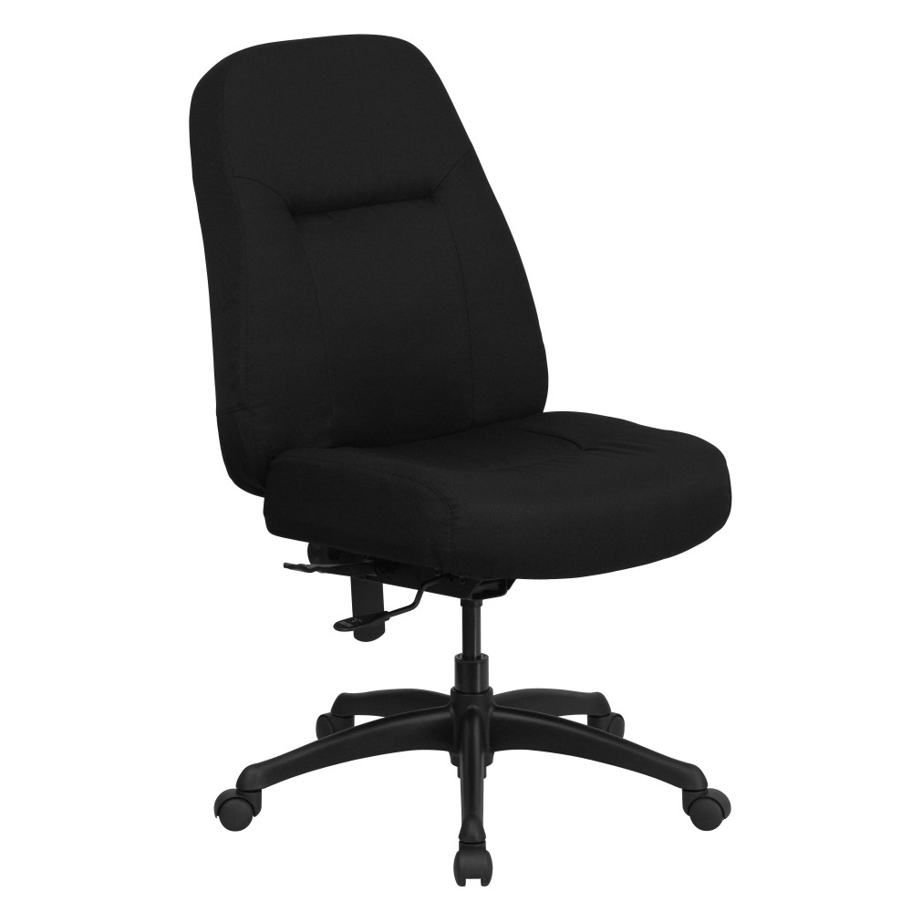 HERCULES Series 500 lb. Capacity Big and Tall Black Fabric Office Chair with Extra WIDE Seat