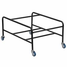HERCULES Series Black Steel Sled Base Stackable School Chair Dolly