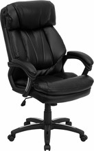 Flash Furniture GO-1097-BK-LEA-GG HERCULES Series High-Back Black Leather Executive Office Chair