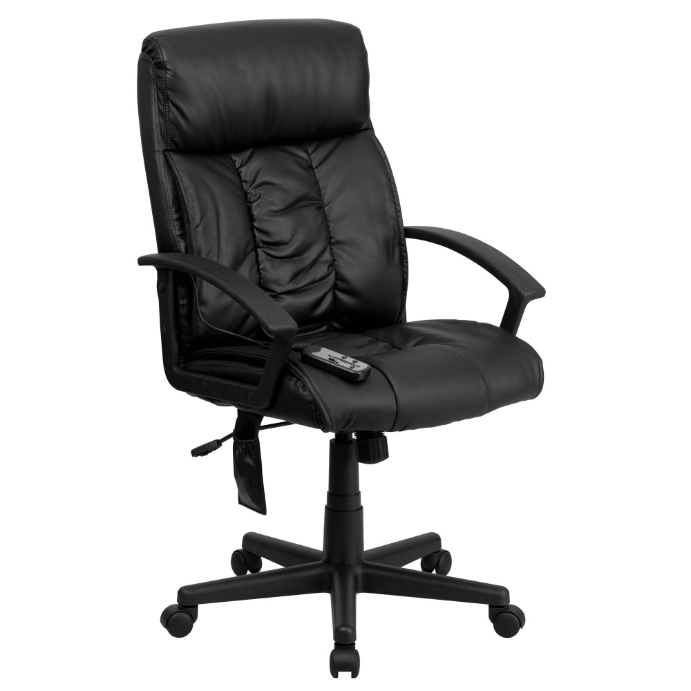 Flash Furniture BT-9578P-GG Black Leather Massaging Executive Office Chair