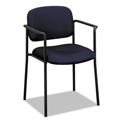 HON VL616 Scatter Navy Fabric Stacking Guest Chair with Arms