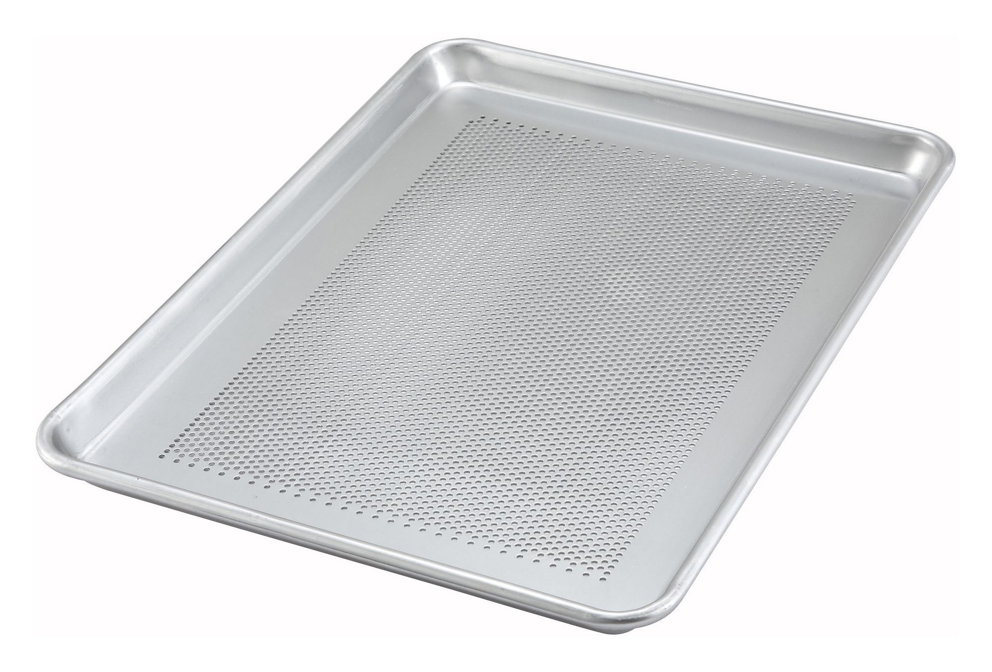 "Winco ALXP-1318P Half-Size Aluminum Perforated Sheet Pan, 13"" x 18"""
