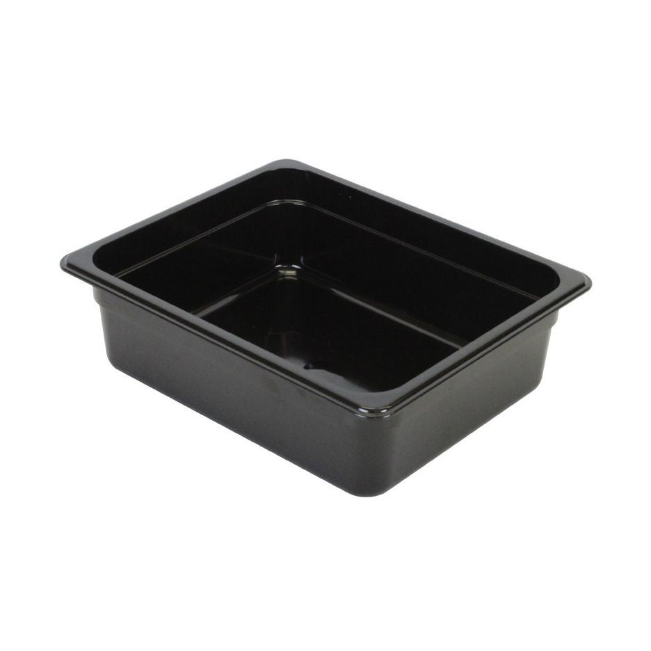 "Thunder Group PLPA8124BK Half Size 4"" Deep Plastic Food Pan, Black"