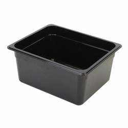 "Thunder Group PLPA8128BK Half Size 8"" Deep Plastic Food Pan, Black"