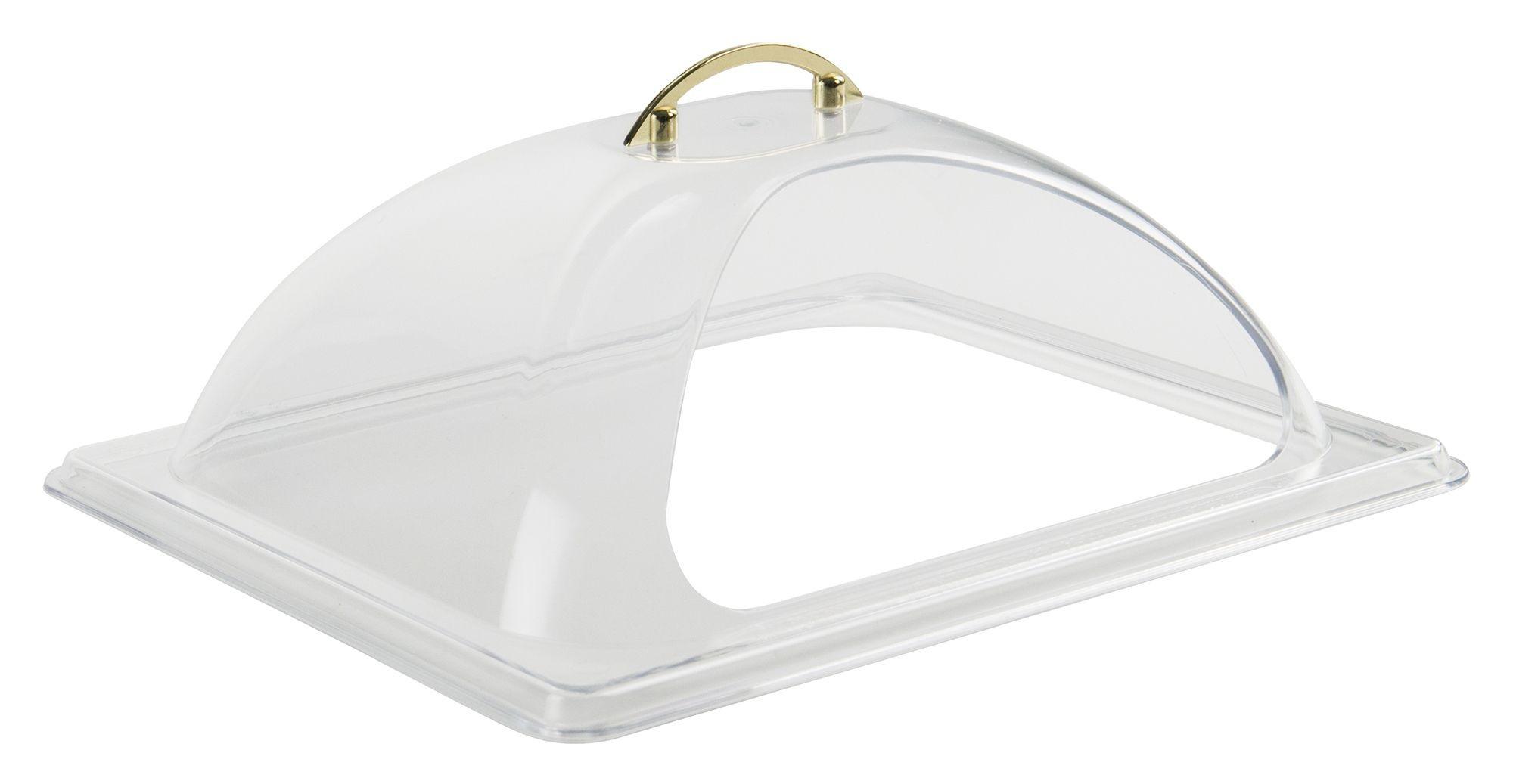 Winco C-DPF2 Polycarbonate Half Size Dome Cover with Side Cut