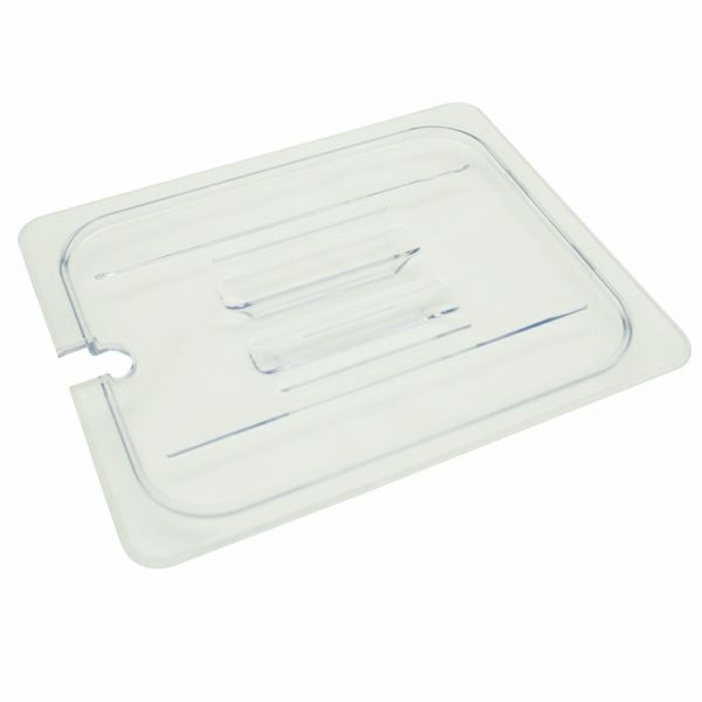 Half Size Slotted Cover For Polycarbonate Food Pan