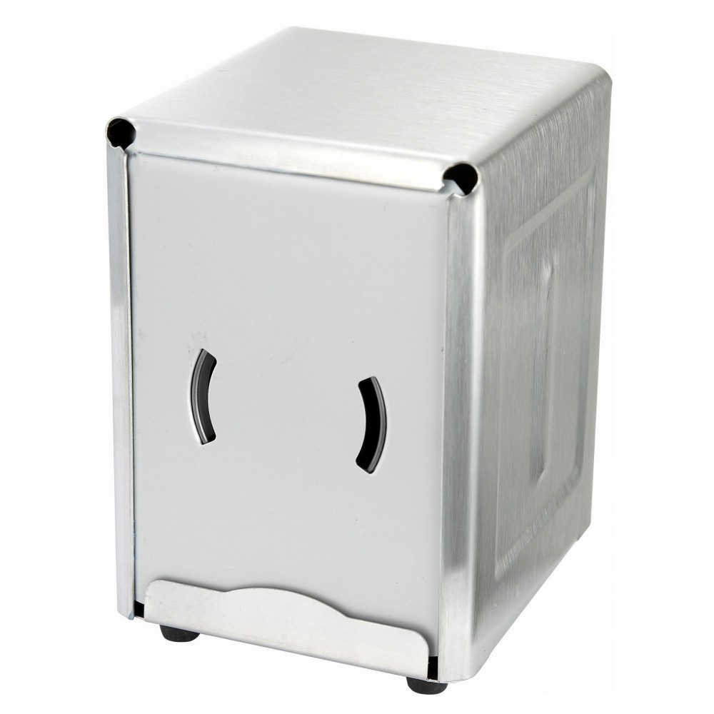 Winco NH-5 Half Size Stainless Steel Napkin Dispenser