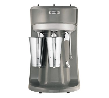 Hamilton Beach Triple Spindle Drink Mixer, 1/3 HP, Stainless Steel Agitator, 3 Speeds, includes three stainless steel cups