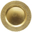 """Jay Import 1182763 Hammered Gold Melamine 13"""" Charger Plate"""