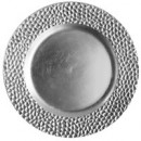 "Jay Import 1182764 Hammered Silver Melamine 13"" Charger Plate"