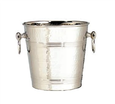 TableCraft 5198 Stainless Steel 7 Qt. Wine and Champagne Bucket with Hammered Finish