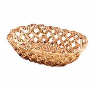 "TableCraft 1636 Oval Willow Handwoven Basket 10"" x 6-1/2"" x 3-1/4"""