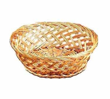 "TableCraft 1635 Round Willow Handwoven Basket 9"" x 3-1/2"""