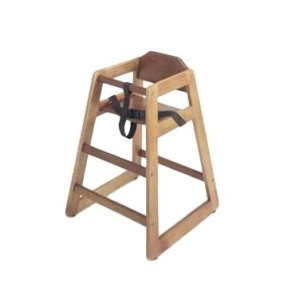 G.E.T. Enterprises HC-100W-1 Walnut Finish Hardwood High Chair - Assembled