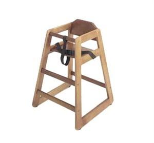 G.E.T. Enterprises HC-100W-2 Walnut Finish Hardwood High Chair - Assembled