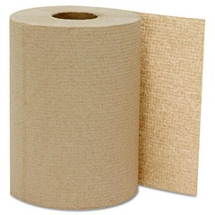 Hardwound Roll Towels, Kraft, 8 x 300'